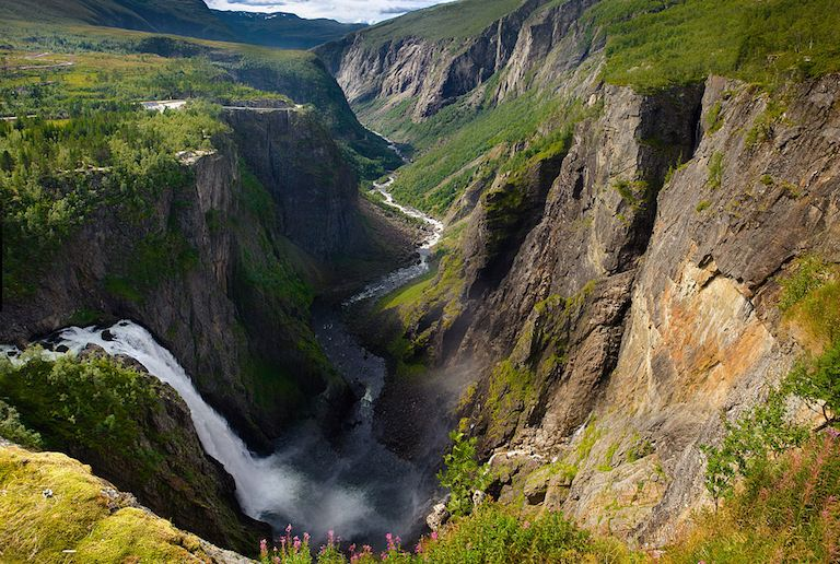 The Vøringsfossen waterfall, on one of Norway's scenic drives