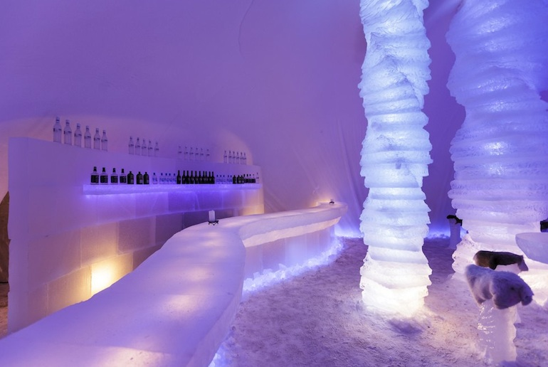 Check out the Ice bar in Rovaniemi in the Arctic Circle, one of Scandinavia's coollest ice bars