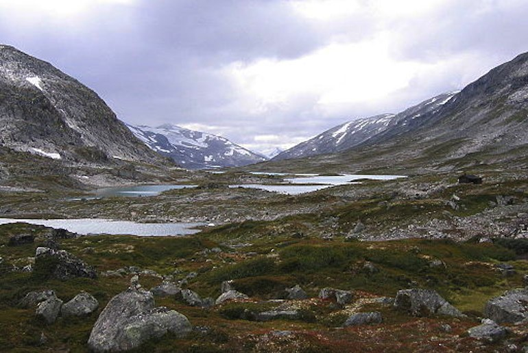 One of Norway's scenic drives, the Gamle Strynefjellsvegen passes two national parks