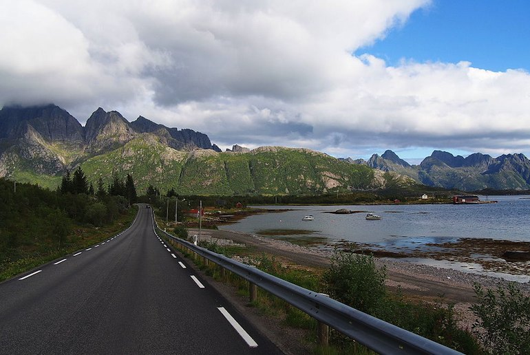 The E10 through the Lofoten islands is one of the prettiest of Norway's scenic routes