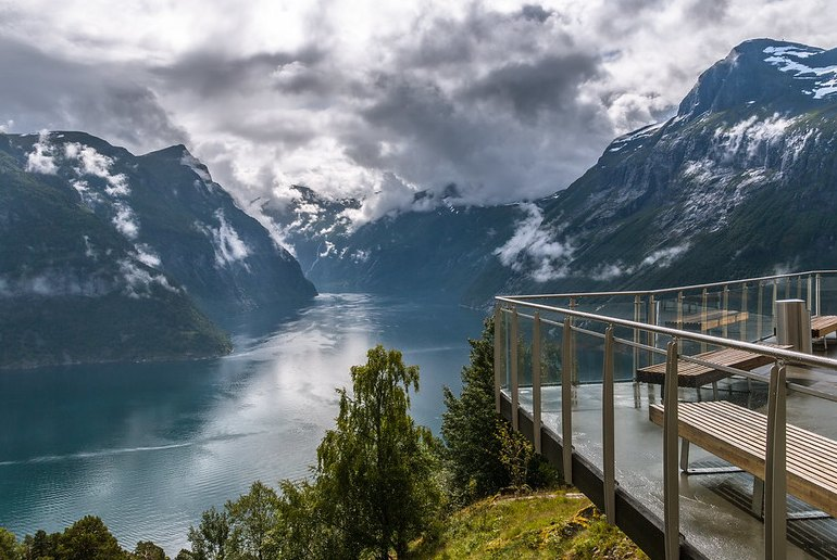 The Geiranger viewpoint, on one of Norway's scenic drives