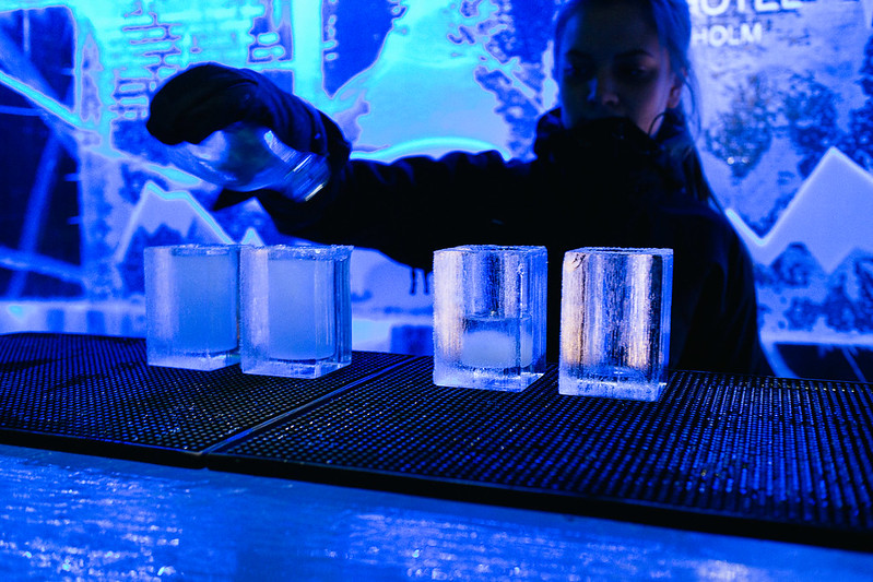 The Icebar in Stockholm is the world's first permanent ice bar