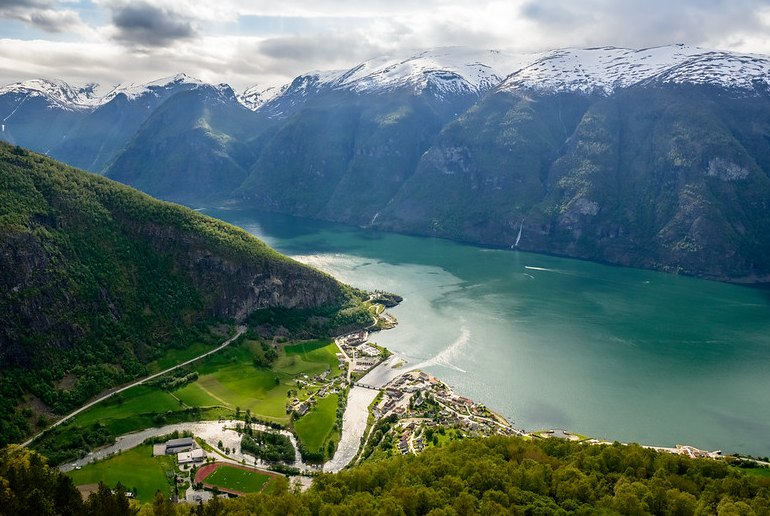 View from the Stegastein viewpoint, on one of Norway's scenic drives