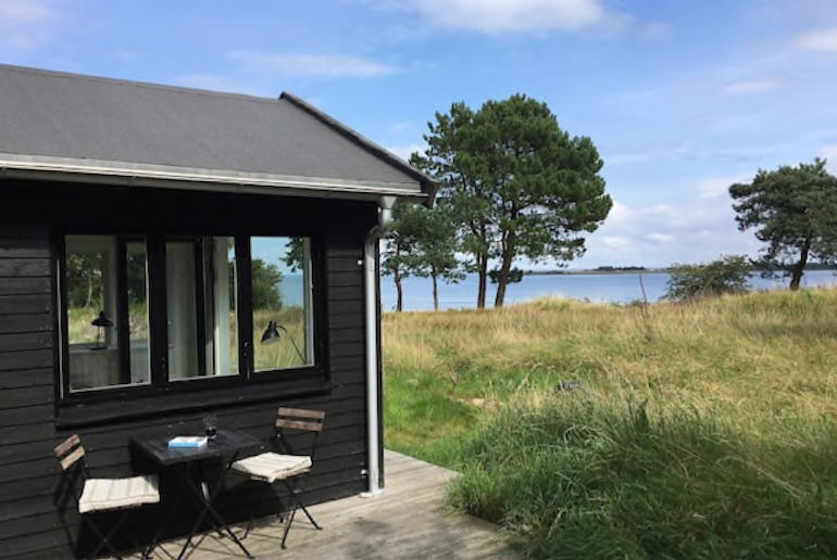 Escape to an island in Denmark, at this lovely cabin by the beach