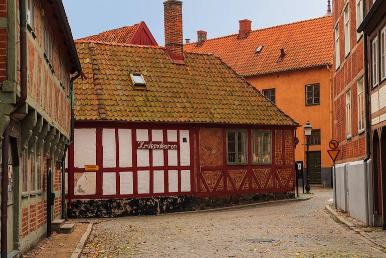 Ystad in Sweden, the pretty home town of Wallander