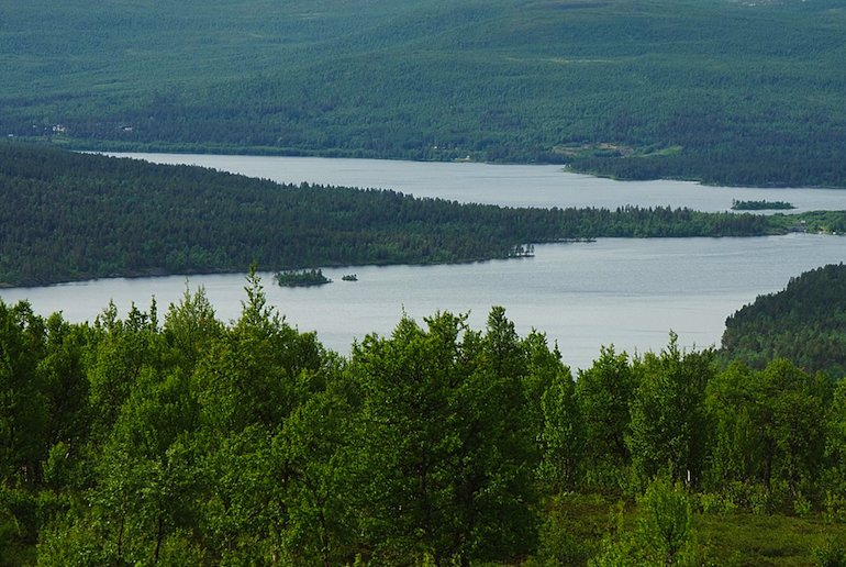 Lake Hornavan is Sweden's deepest lake.