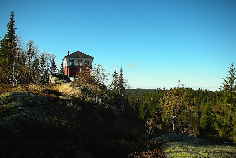 The walk up Kjerkeberget is a popular hike near Oslo
