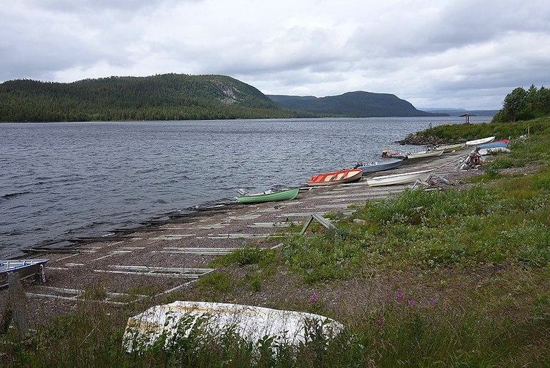 Lake Laisan is Sweden is popular for kayaking and fishing.