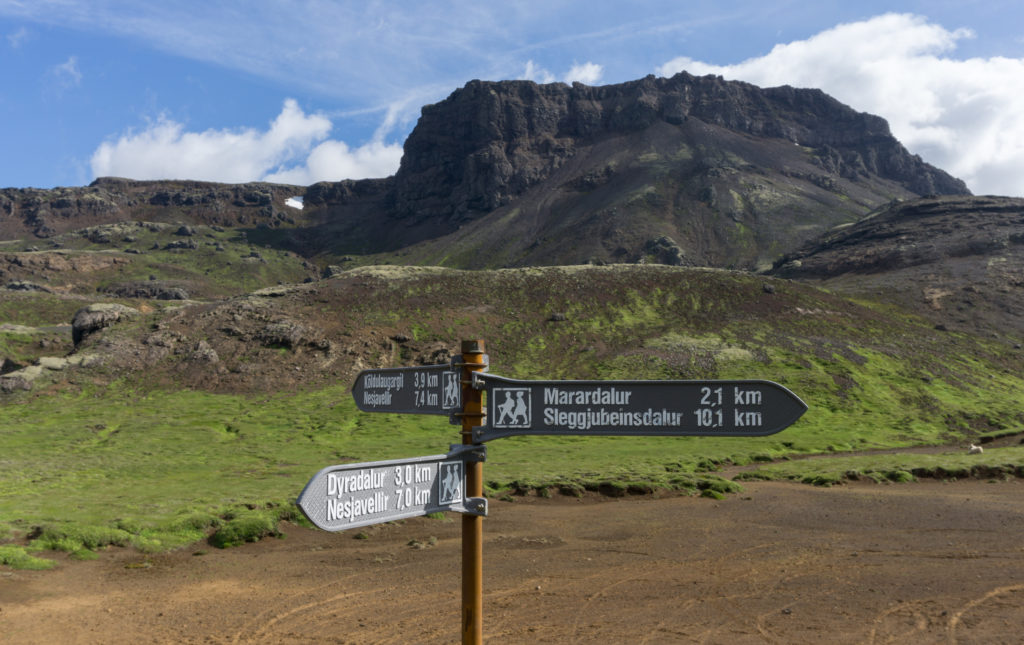 Summer is the best time for hiking in Iceland