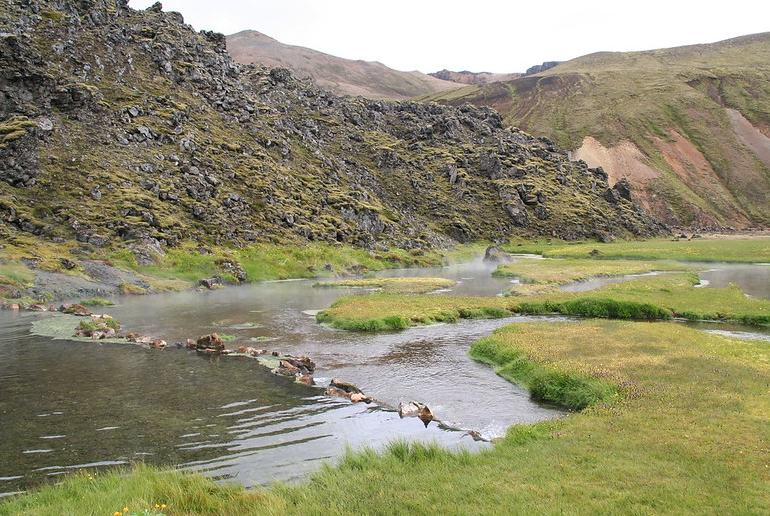 A day trip from Reykjavik to the Landmannalaugar region combines hiking with a dip in the hot springs