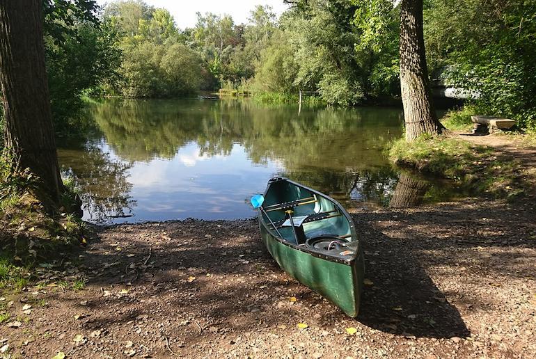Kayaking and canoeing in Denmark in summer