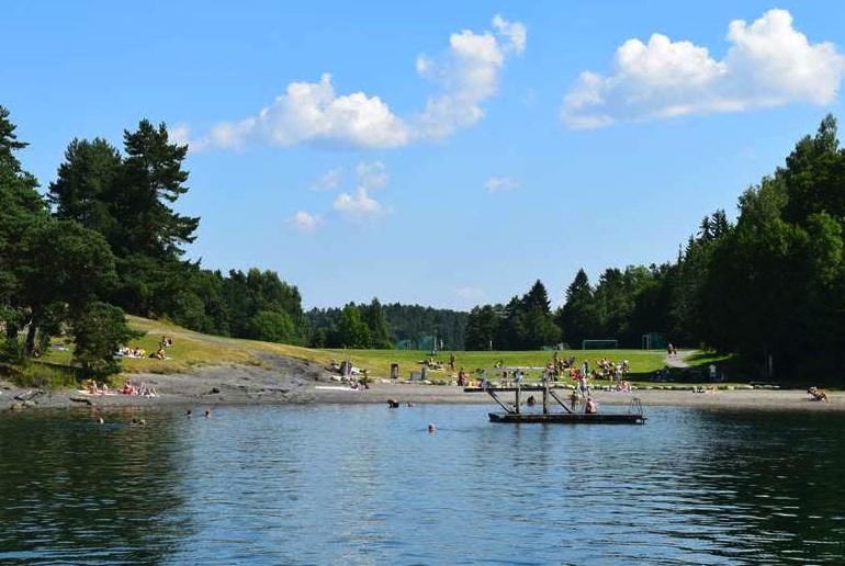 Kalvøya Beach, near Oslo, is one of Norway's best beaches