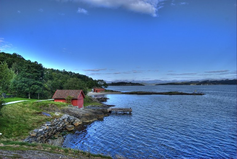 Godalen Beach, near Stavanger, is one of Norway's best beaches