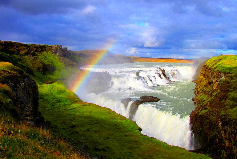 Gulfoss waterfall on the Golden Circle tour from Reykjavik