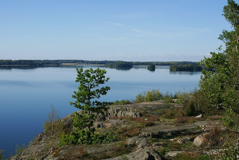 Near Stockholm, Lake Mälaren is a popular place for city residents to go swimming and sailing.