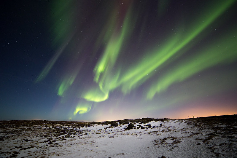 Winter is the best time to see the northern lights in Iceland.