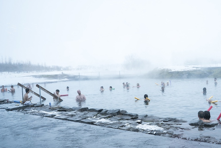 Take a day trip from Reykjavik to swim in the Secret lagoon