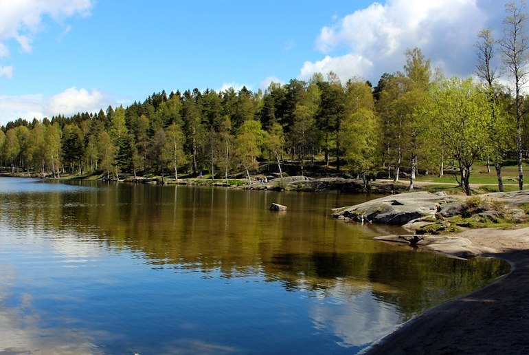 Songsvann Lake, a great hike near Oslo