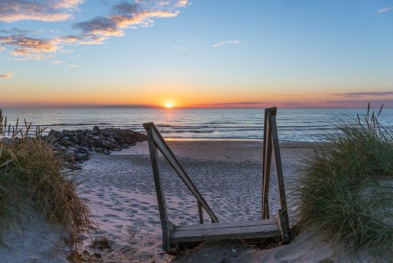 Summer on the beach in Denmark