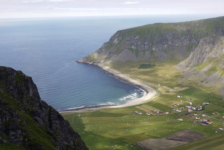 Unstad Beach, a great beach for surfing in Norway