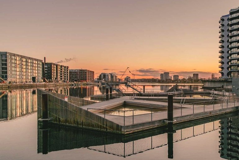 Sluseholmen Havnebad is a free pool in Copenhagen