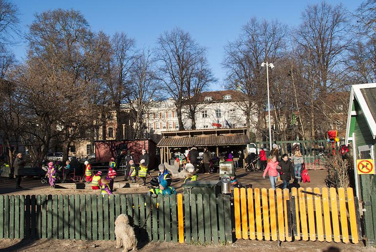 The Humlegården is a great place for kids to play in Stockholm