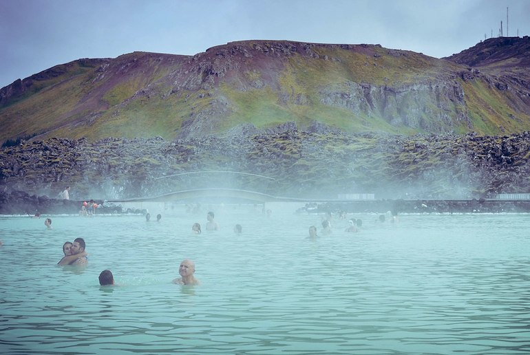 Iceland is known for its geothermal pools