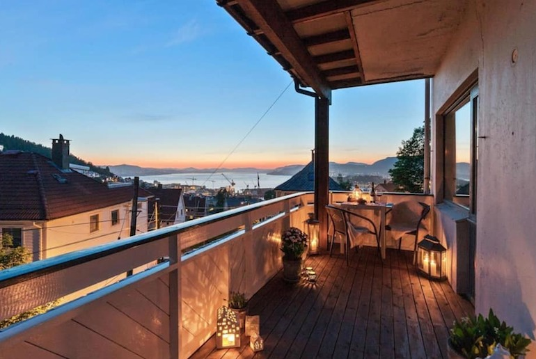 This apartment has some of the best views in Bergen
