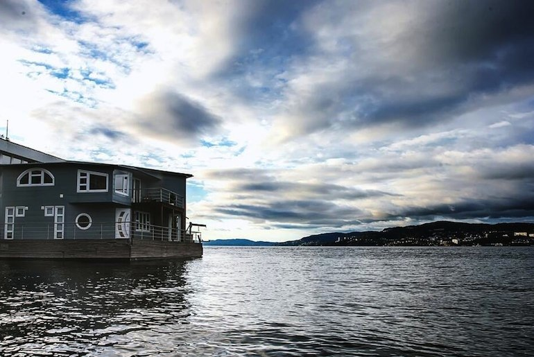 This floating house is one the best places to stay in Bergen