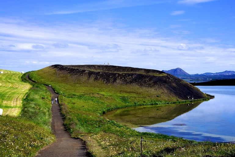 The beautiful Lake Mývatn is a highlight of northern Iceland.