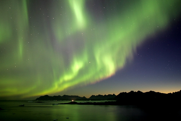 Iceland and Greenland are both good for viewing the northern lights