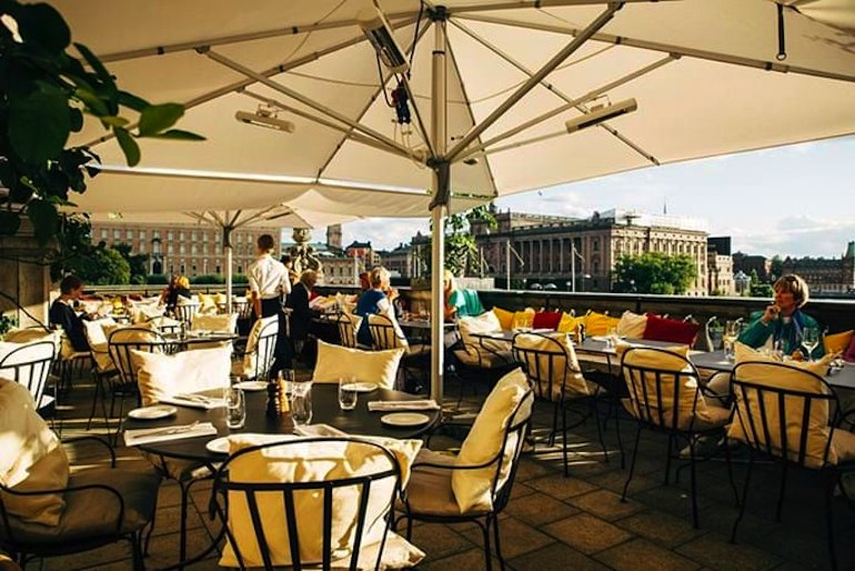 Fantastic opera and great views at the Kungliga Operan terrace in Stockholm