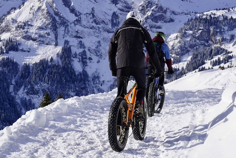 Rent a fat bike so you can go cycling in Norway in the snow.