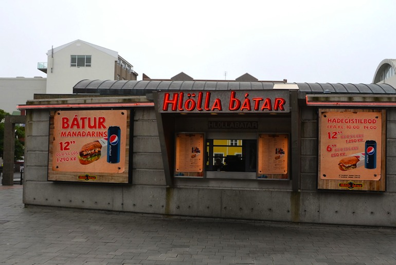 East at fast food kiosks if you're visiting Iceland on a budget
