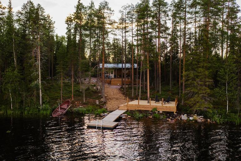 Get cosy in this log cabin in the woods in Finland