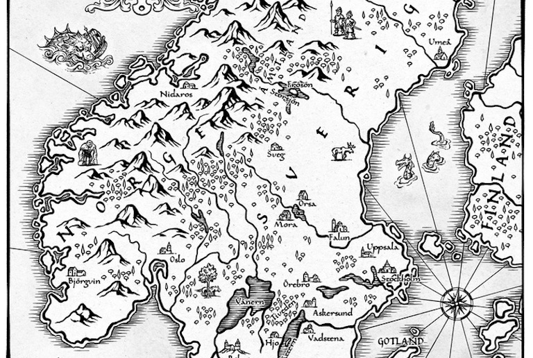 Check out this fantasy-style map of Scandinavia
