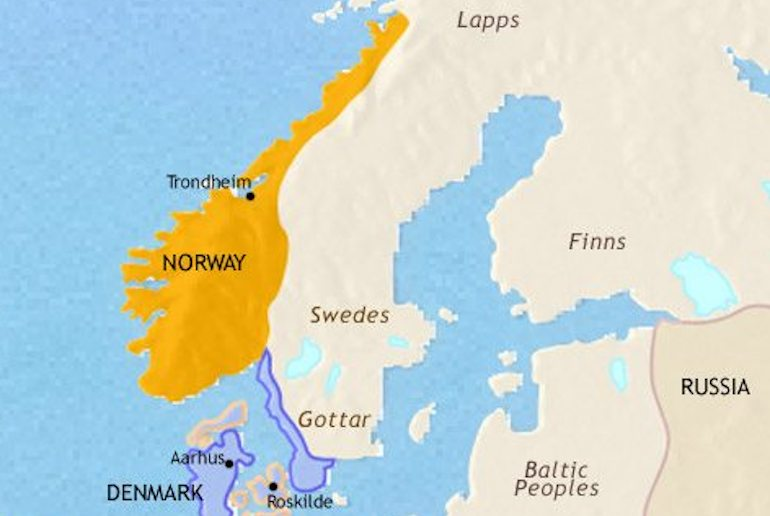 See how the Nordic countries looked in Viking times with this cool Viking map of Scandinavia