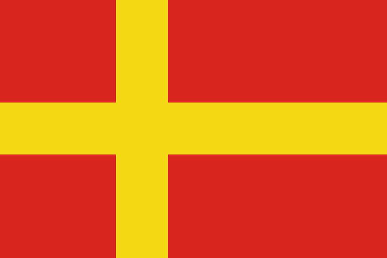 Although part of Sweden, Skåne has its own Scandinavian flag.