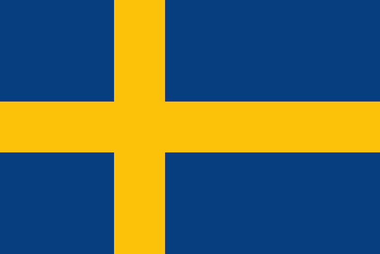 Sweden's flag is one of the most recognised of the flags of Scandinavia