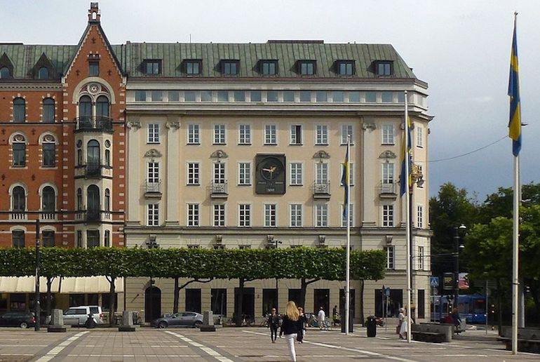 Kreditbank on Norrmalmstorg in Stockholm, where Stockholm syndrome was first identified.