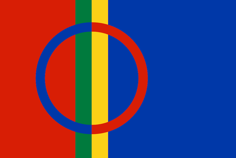 The Sami people have their own Scandinavian flag