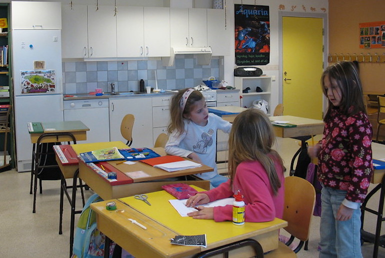 Childcare and education are state-funded in Sweden