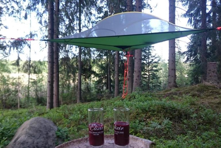 You can even sleep in a tent in a tree in Finland