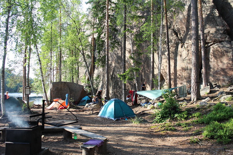 It's legal to camp wild in Finland.