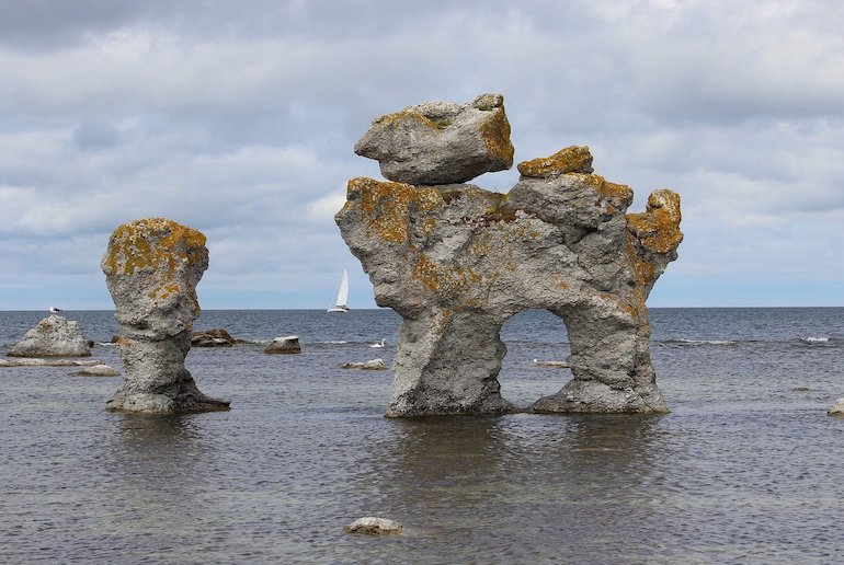 The Baltic island of Gotland is known for its dramatic sea stacks