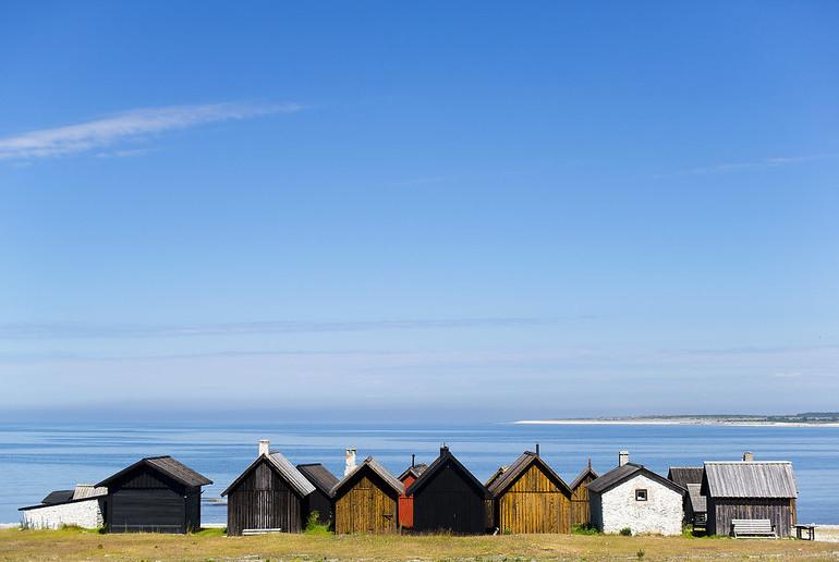 Faro fishermen huts in Gotland